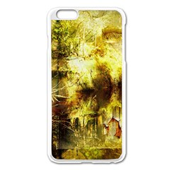 Grunge Texture Retro Design Apple iPhone 6 Plus/6S Plus Enamel White Case