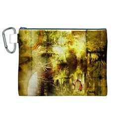 Grunge Texture Retro Design Canvas Cosmetic Bag (xl)