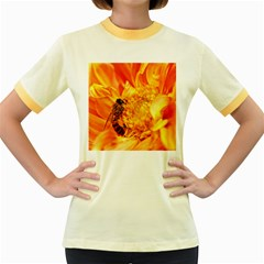 Honey Bee Takes Nectar Women s Fitted Ringer T-Shirts