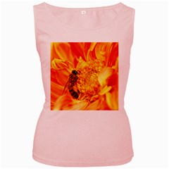 Honey Bee Takes Nectar Women s Pink Tank Top