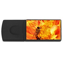 Honey Bee Takes Nectar USB Flash Drive Rectangular (2 GB)