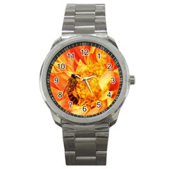 Honey Bee Takes Nectar Sport Metal Watch