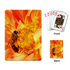 Honey Bee Takes Nectar Playing Card