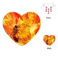 Honey Bee Takes Nectar Playing Cards (Heart)
