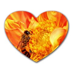 Honey Bee Takes Nectar Heart Mousepads