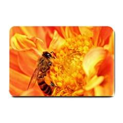 Honey Bee Takes Nectar Small Doormat