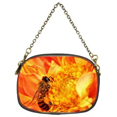 Honey Bee Takes Nectar Chain Purses (two Sides)