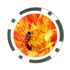 Honey Bee Takes Nectar Poker Chip Card Guard (10 Pack)