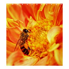 Honey Bee Takes Nectar Shower Curtain 66  X 72  (large)