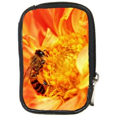 Honey Bee Takes Nectar Compact Camera Cases