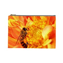 Honey Bee Takes Nectar Cosmetic Bag (Large)