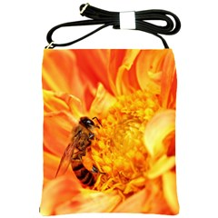 Honey Bee Takes Nectar Shoulder Sling Bags