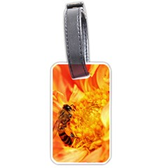 Honey Bee Takes Nectar Luggage Tags (One Side)
