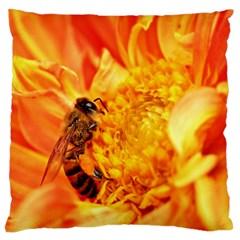 Honey Bee Takes Nectar Large Cushion Case (One Side)