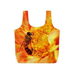 Honey Bee Takes Nectar Full Print Recycle Bags (S)