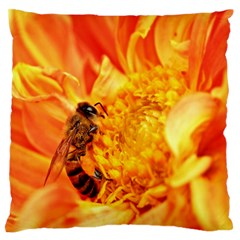 Honey Bee Takes Nectar Standard Flano Cushion Case (one Side)