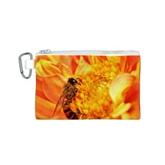 Honey Bee Takes Nectar Canvas Cosmetic Bag (s)