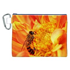 Honey Bee Takes Nectar Canvas Cosmetic Bag (XXL)