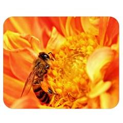 Honey Bee Takes Nectar Double Sided Flano Blanket (Medium)
