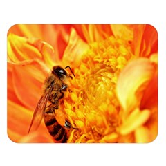 Honey Bee Takes Nectar Double Sided Flano Blanket (large)