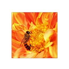 Honey Bee Takes Nectar Satin Bandana Scarf