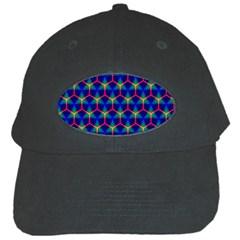 Honeycomb Fractal Art Black Cap