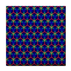 Honeycomb Fractal Art Tile Coasters