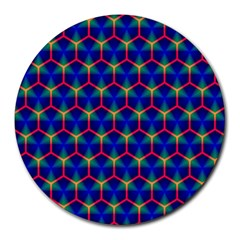 Honeycomb Fractal Art Round Mousepads