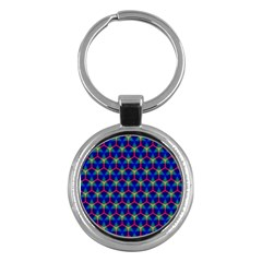 Honeycomb Fractal Art Key Chains (Round)