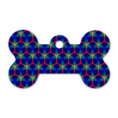 Honeycomb Fractal Art Dog Tag Bone (one Side)