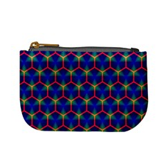 Honeycomb Fractal Art Mini Coin Purses