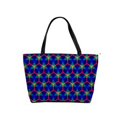 Honeycomb Fractal Art Shoulder Handbags