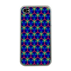 Honeycomb Fractal Art Apple iPhone 4 Case (Clear)