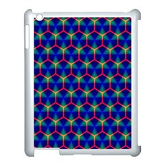 Honeycomb Fractal Art Apple iPad 3/4 Case (White)