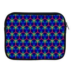 Honeycomb Fractal Art Apple Ipad 2/3/4 Zipper Cases