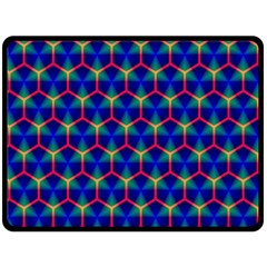 Honeycomb Fractal Art Double Sided Fleece Blanket (large)