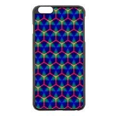Honeycomb Fractal Art Apple Iphone 6 Plus/6s Plus Black Enamel Case