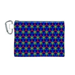 Honeycomb Fractal Art Canvas Cosmetic Bag (M)