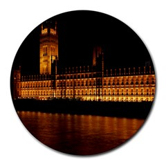 Houses Of Parliament Round Mousepads