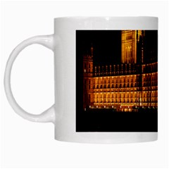 Houses Of Parliament White Mugs