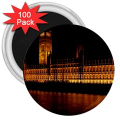 Houses Of Parliament 3  Magnets (100 pack)