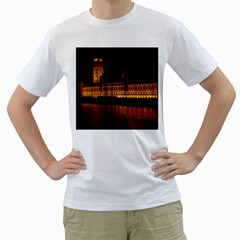 Houses Of Parliament Men s T Shirt (white) (two Sided)