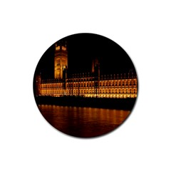 Houses Of Parliament Rubber Coaster (Round)