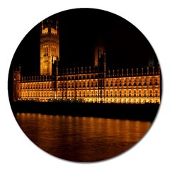 Houses Of Parliament Magnet 5  (Round)