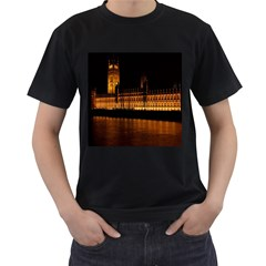 Houses Of Parliament Men s T Shirt (black) (two Sided)