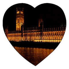 Houses Of Parliament Jigsaw Puzzle (Heart)