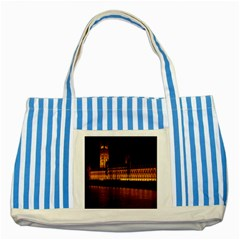 Houses Of Parliament Striped Blue Tote Bag