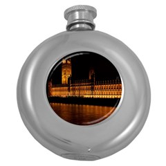 Houses Of Parliament Round Hip Flask (5 Oz)