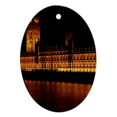 Houses Of Parliament Oval Ornament (Two Sides)