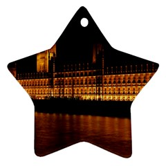 Houses Of Parliament Star Ornament (Two Sides)